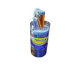 Kores Funcils HB Dark With Eraser Pack of 100 Pencil & 10 Sharpener in Jar