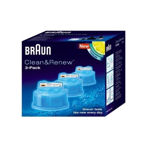 Braun Syncro Shaver System Clean & Renew Refills Shaver Refills 3 Pack front-142427