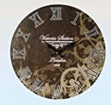 Wood Wall Clock Antique Nostalgia Retro Vintage Country House Style