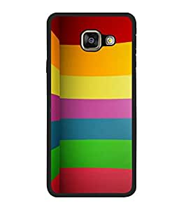 printtech Colored Abstract Lines Back Case Cover for Samsung Galaxy A5 (2016) :: Samsung Galaxy A5 (2016) Duos with dual-SIM card slots