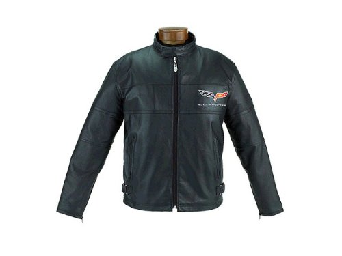S 2005 06 07 08 09 10 Corvette C6 Leather Racing Jacket