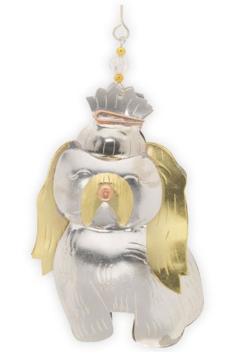 Pilgrim Imports Shi Tzu Metal Fair Trade Ornament