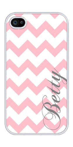 41Do27v49gL ^ Personalized Light Pink and White Chevron Pattern rubber iphone 4 case   Fits iphone 4 and iphone 4s Discount