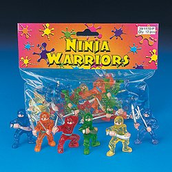 12 pc Toy Ninja Warriors