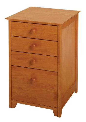Winsome Wood File Cabinet with 4 Drawers, Honey