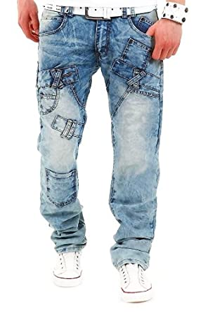 Jeans-Style Jeans Cargo Hellblau DF7409 [W30/L32]