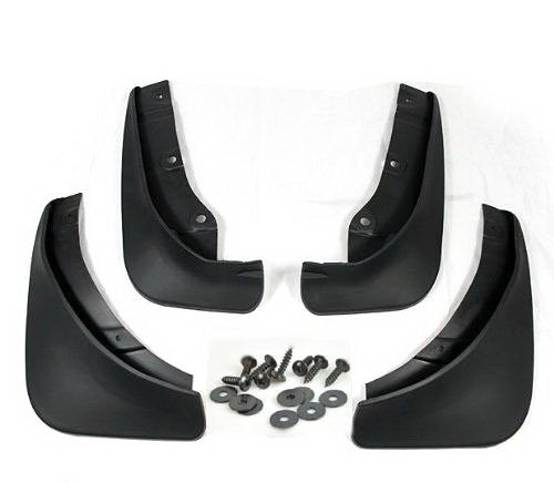 Black Auto parts 4PCS Mudguard Splash Guard Mud