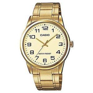 腕時計 カシオ Casio #MTP-V001G-9B Men\'s Standard Gold Tone Stainless Steel Easy Reader Watch [並行輸入品]
