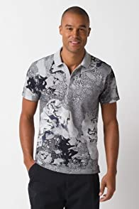 Fashion Show Short Sleeve Pique Landscape Print Polo Shirt