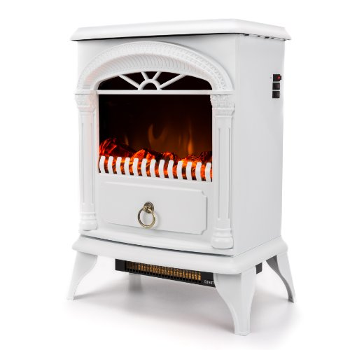 Sale!! Hamilton Free Standing Electric Fireplace Stove - 22 Inch White Portable Electric Vintage Fir...