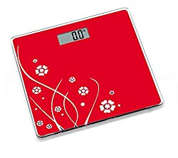 Venus Electronic Bathroom Scale (36 cm x 34 cm x 6 cm, Red)