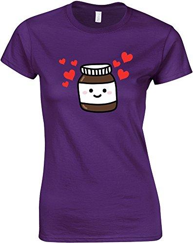 Nutella, Ladies Printed T-Shirt - Purple/Transfer M = 4-6