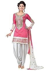 Krisha print Chanderi Emroidery work Patiyala Salwar Kameez suit 1001
