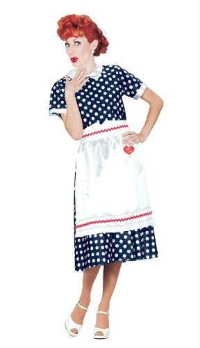 Costumes For All Occasions Xr40111Lg I Love Lucy Polka Dot Dress Lg