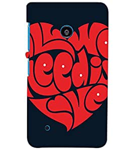 NOKIA LUMIA 530 DUAL HEART Back Cover by PRINTSWAG