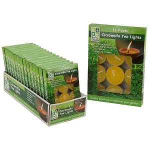 12 Pack Citronella Garden Tea Light Candles by PMS International