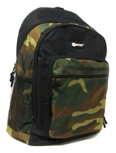 Hi-Tec Black/Cammo Boys Traditional Back Pack - Black / Cammo - UK 1-1