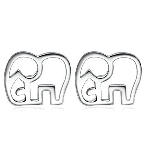 amdxd-jewelry-silver-plated-women-stud-earrings-elephant-silver