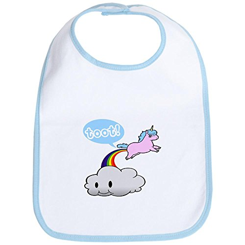 CafePress-Cute-Unicorn-Fart--TOOT-Bib-Cute-Cloth-Baby-Bib-Toddler-Bib
