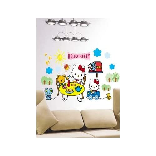 X Large Hello Kitty Wall Sticker Decal for Baby Nursery Kids Room