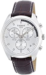 Tissot Men's Quartz Stainless Steel Casual Watch, Color:Brown (Model: T1014171603100)