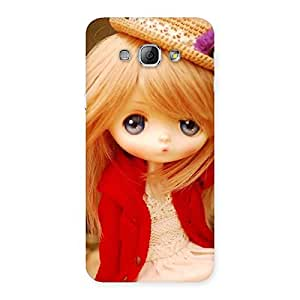 Stylish Tiny Bride Girl Multicolor Back Case Cover for Galaxy A8