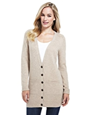 M&S Collection V-Neck Cardigan with Angora