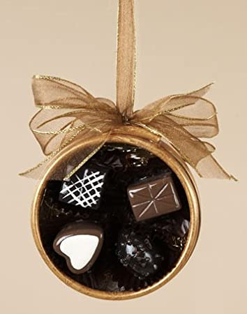 Candies in Round Gift Box Christmas Ornament