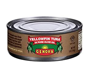 Genova, Yellowfin Tuna in Pure Olive Oil, 5-Ounce Cans (Pack of 24)