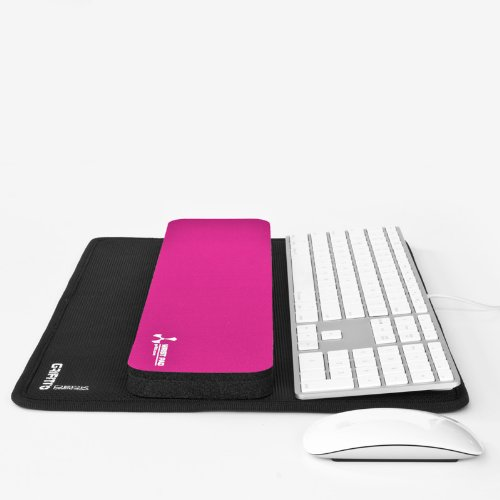 Grifiti Platform Fat Wrist Pad 17 In Pink Combines Grifiti Deck 17 Keyboard Platform And Laptop Lap Desk And Grifiti 4 X 17 X 0.75 Wrist Rest For Mechanical Gaming Keyboards Filco, Ducky, Cooler Master, Logitech, Microsoft, Dell And Large Laptops front-60392
