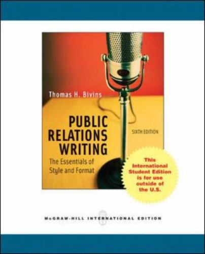 Public Relations Writing: The Essentials of Style
