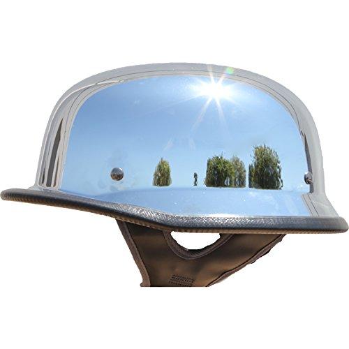 German Motorcycle Half Helmet DOT Low Profile Chrome (XL)