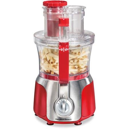 Hamilton Beach 70576 Big Mouth Deluxe 14-Cup Food Processor, Red