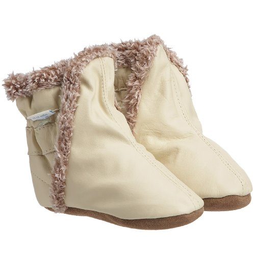 Robeez Classic Bootie (Infant/Toddler/Little Kid), Cream, 12-18 Months (4.5-6 M US Toddler)