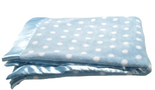 Pickles Bubbles Polka Dot Baby Blanket, Blue - 1