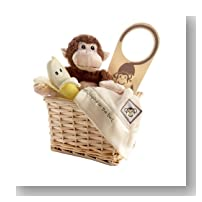 Baby Aspen Five Little Monkeys Gift Set with Keepsake Basket