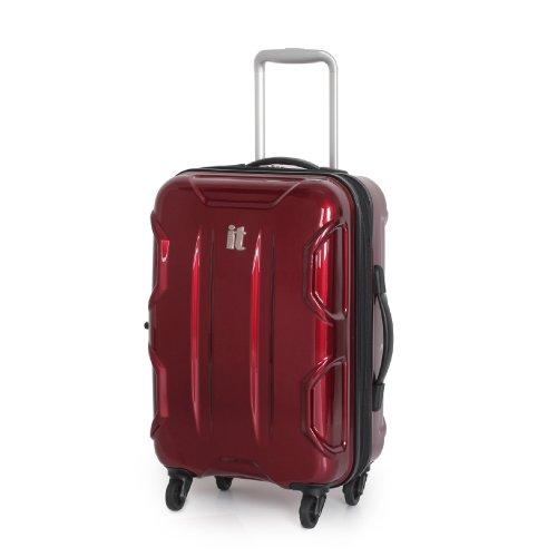 "IT Luggage Red Small 59.5cm/20"" 4 Wheel Hardshell Suitcase"