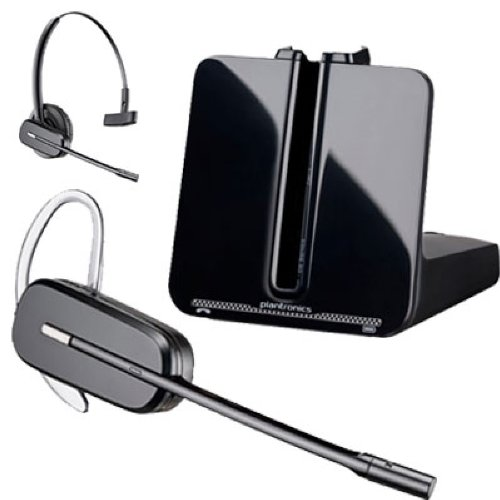 Plantronics Duoset Over-The-Head & Over-The-Ear Ultra-Lightweight Noise-Canceling Hands-Free Headset System With Handset Lifter