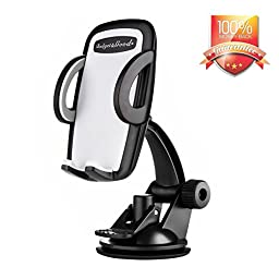 Budget&Good Windshield Dashboard Universal Car Mount, cell phone holder for General Mobile Phones Car Holder for iphone SE 7 7Plus 6 6 plus 5 5s 4s Android Samsung Galaxy S6 S5 Note 4 and Smartphones
