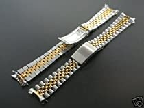 Jubilee Watchband for Rolex Men Real Gold 14k/SS 17mm Watch