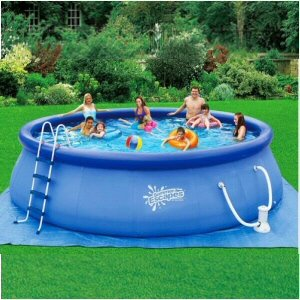 Quick set ring pool 18 39 x 48 with 1000 gph for Above ground pools quick set