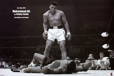 Muhammad Ali (Vs. Sonny Liston) Sports Poster Print - 24x36