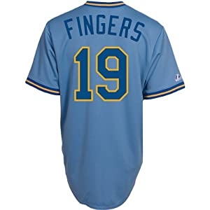 Majestic Athletic Milwaukee Brewers Rollie Fingers Replica Cooperstown Alternate by Majestic Athletic