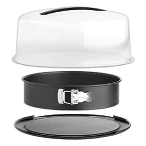 zenker 3959 springform mit email servierboden tragehaube k che haushalt. Black Bedroom Furniture Sets. Home Design Ideas