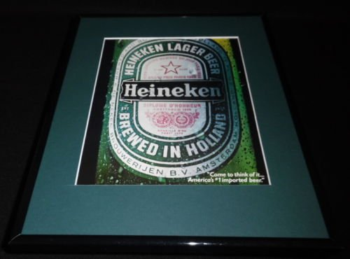 1986-heineken-beer-11x14-framed-original-vintage-advertisement-b
