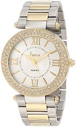 Freelook Women's HA1536GM-3 Silver/Gold Plated s Crystal Bezel Watch