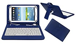 ACM USBCK7BL0182 Acm Premium Usb Keyboard Tablet Case Holder Cover For Samsung Galaxy Tab 3 T211 P3200 P3210 With Free Micro Usb Otg - Blue