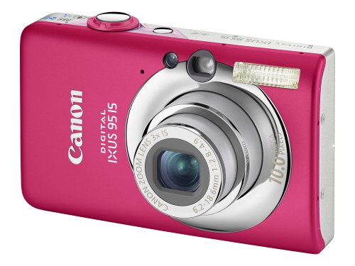 Canon Digital IXUS 95 IS Digital Camera - Pink (10 MP, 3.0x Optical Zoom) 2.5 inch LCD