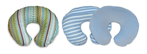 Boppy Feeding & Infant Support Pillow Bonus Pack, 1 Pillow + 2 Striped Protective Slipcovers - 1