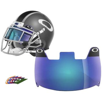 Oakley Shield Men's Football Helmet Accessories - Blue / One Size (Football Helmets Shield compare prices)